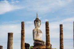 Ancient Buddha Statue at Sukhothai historical park, Mahathat Temple ,Thailand. Stock Photo