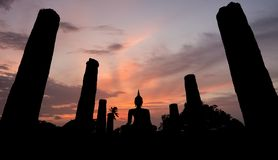 Ancient buddha statue. Sukhothai Historical Park, Sukhothai Prov Stock Photos
