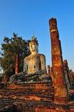 Ancient buddha statue. Sukhothai Historical Park, Stock Photography