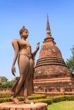 Ancient buddha statue. Sukhothai Historical Park Royalty Free Stock Images