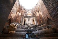 Ancient buddha statue. Sukhothai Historical Park Stock Photography