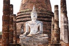 Ancient buddha statue. Sukhothai Historical Park Royalty Free Stock Photos