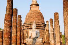 Ancient buddha statue. Sukhothai Historical Park Stock Photography