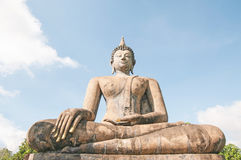Ancient buddha statue. Sukhothai Historical Park,  Royalty Free Stock Photos