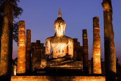 Ancient buddha statue. Sukhothai Historical Park, Sukhothai Prov Royalty Free Stock Photography