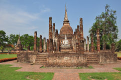 Ancient buddha statue. Sukhothai Historical Park in Sukhothai Royalty Free Stock Photography