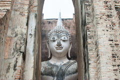 Ancient buddha statue, Sukhothai Historical Park Stock Photos