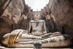 Ancient buddha statue, Sukhothai Historical Park Stock Photo