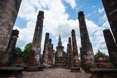Ancient buddha statue, Sukhothai Historical Park Stock Images