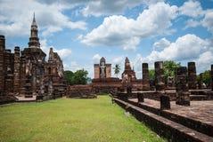 Ancient buddha statue, Sukhothai Historical Park Royalty Free Stock Image
