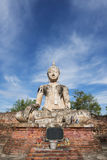 Ancient Buddha statue at Sukhothai historical park, Thailand. Royalty Free Stock Photo