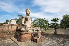 Ancient Buddha statue at Sukhothai historical park, Thailand. Royalty Free Stock Photos