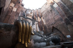 Ancient buddha statue. Sukhothai Historical Park,Thailand Royalty Free Stock Photos