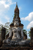 Ancient Buddha Statue in Sukhothai royalty free stock photography