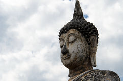 Ancient Buddha Statue in Sukhothai stock photo
