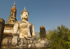 Ancient buddha statue at Sukhothai Historical Park, Thailand Royalty Free Stock Photography