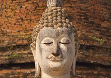 Ancient buddha statue at Sukhothai Historical Park, Thailand Stock Photos