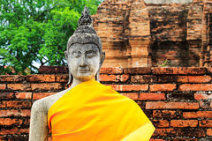 Ancient Buddha statue Royalty Free Stock Photography