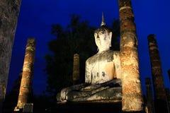 Ancient buddha statue at twilight Stock Photos