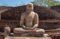 Ancient Buddha statue in Vatadage, ancient city of Polonnaruwa Sri Lanka Stock Image