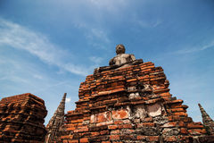 Ancient Buddha statue at Wat Chai Watthanaram Temple, Ayutthaya, Stock Images
