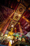 Ancient Buddha Statue in Wat Nah Phramen Chapel Buddhist temp Royalty Free Stock Photos