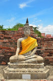 Ancient buddha statue at Wat Yai Chaimongkol stock images