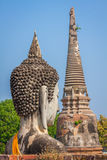 Ancient Buddha statue at Wat Yai Chaimongkol in the historical c Royalty Free Stock Photos