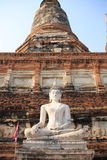 Ancient Buddha statue at Wat Yai Chaimongkol Royalty Free Stock Photo