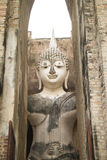 Ancient Buddha Statue, world heritage site Royalty Free Stock Photo