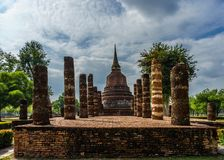 Ancient Buddha Statue  world heritage site Sukhothai historical Stock Image