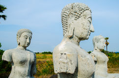Ancient Buddha statues Royalty Free Stock Photo