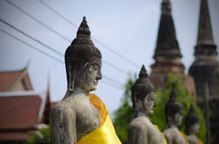 Ancient Buddha statues in Ayutthaya, Thailand Stock Photo