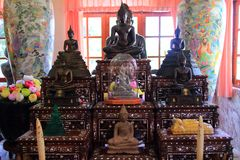 Ancient buddha statues Stock Photo