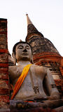Ancient buddha. The buddha statues is in wat yai chai mongkon thailand ayuttaya Stock Photo