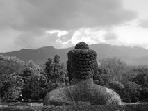 Ancient Buddha statute in black and white Stock Photography