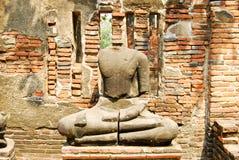 Ancient buddha stone statue Stock Image