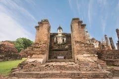 Ancient Buddha at Sukhothai Historical Park,Thailand. Stock Images