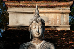 Ancient Buddha in Sukhothai temple . Stock Photography