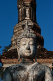 Ancient Buddha in Sukhothai temple . Royalty Free Stock Image