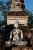 Ancient Buddha in Sukhothai temple  . Royalty Free Stock Photography