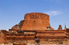 Ancient Buddha Temple. In Ayuthaya,Thailand Royalty Free Stock Photography