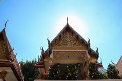 Ancient buddha temple in Ayutthaya, Thailand royalty free stock photography