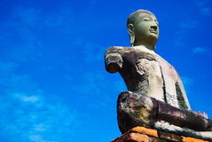 Ancient Buddha in Thailand royalty free stock images