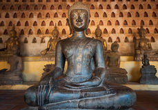Ancient Buddha in Vientiane, Laos Stock Photo