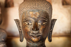 Ancient Buddha in Vientiane, Laos Stock Photography