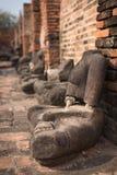 Ancient Buddha. At Wat Phra that,Ayutthaya, Thailand Royalty Free Stock Photo