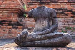 Ancient Buddha. At Wat Phra that,Ayutthaya, Thailand Stock Image