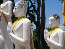 Ancient Buddha at Wat Yai Chai Mongkhon of Ayuthaya, Thailand.  Royalty Free Stock Photography