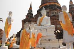 Ancient Buddha at Watlokayasutharam Temple in Ayutthaya, Thailan. D Stock Photo